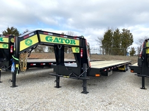 Air Ride Gooseneck Trailer With Hydraulic Dovetail  Air Ride Gooseneck Trailer With Hydraulic Dovetail. Gooseneck Trailer featuring air ride suspension and a hydraulic dovetail for safe and easy loading