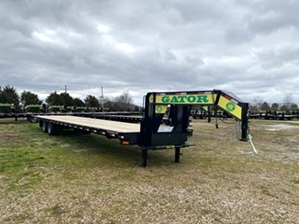 Air Ride Trailer 40ft Air Ride Trailer 40ft. Flatbed Air Ride Gooseneck 40ft long with slide under ramps.