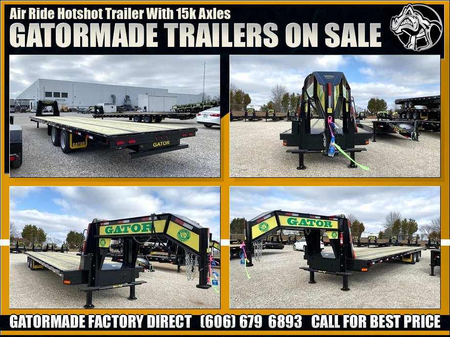 Air Ride Hot Shot Trailers
